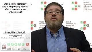 Should Immunotherapy Stop in Responding Patients After a Fixed Duration of Treatment?