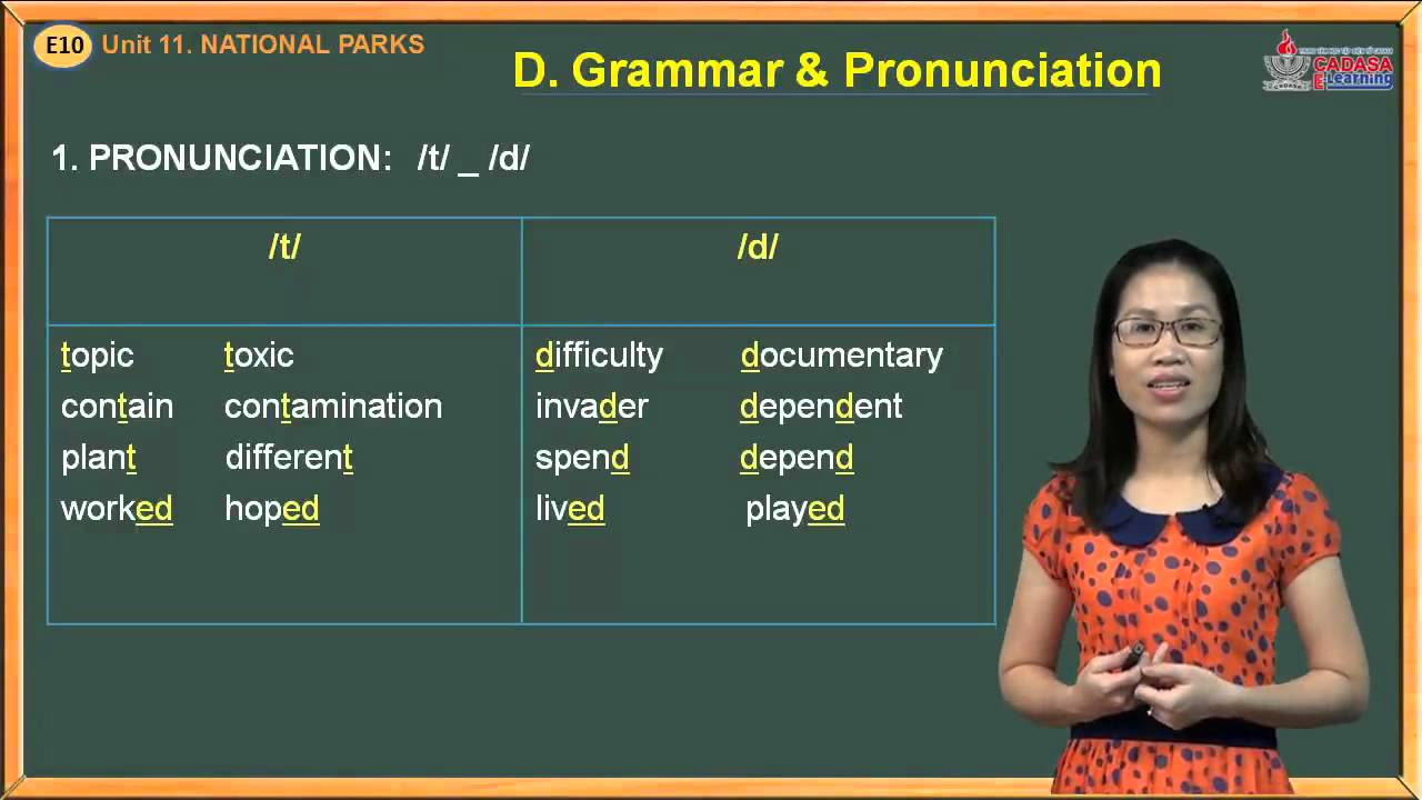 Video tiếng Anh lớp 10 – Unit 11. National Parks – Grammar And Pronunciation
