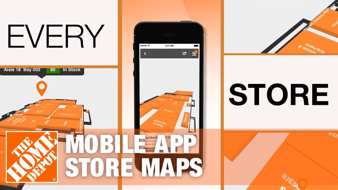 The Home Depot Mobile App - Store Maps - YouTube