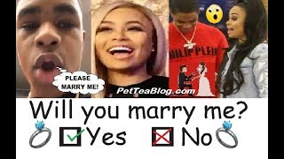 BlacChyna Boyfriend Proposes to her & Quits RAP 💍👎🎙️