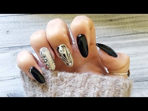 New 2018 Nails Art Tutorial Stiletto Nails Youtube