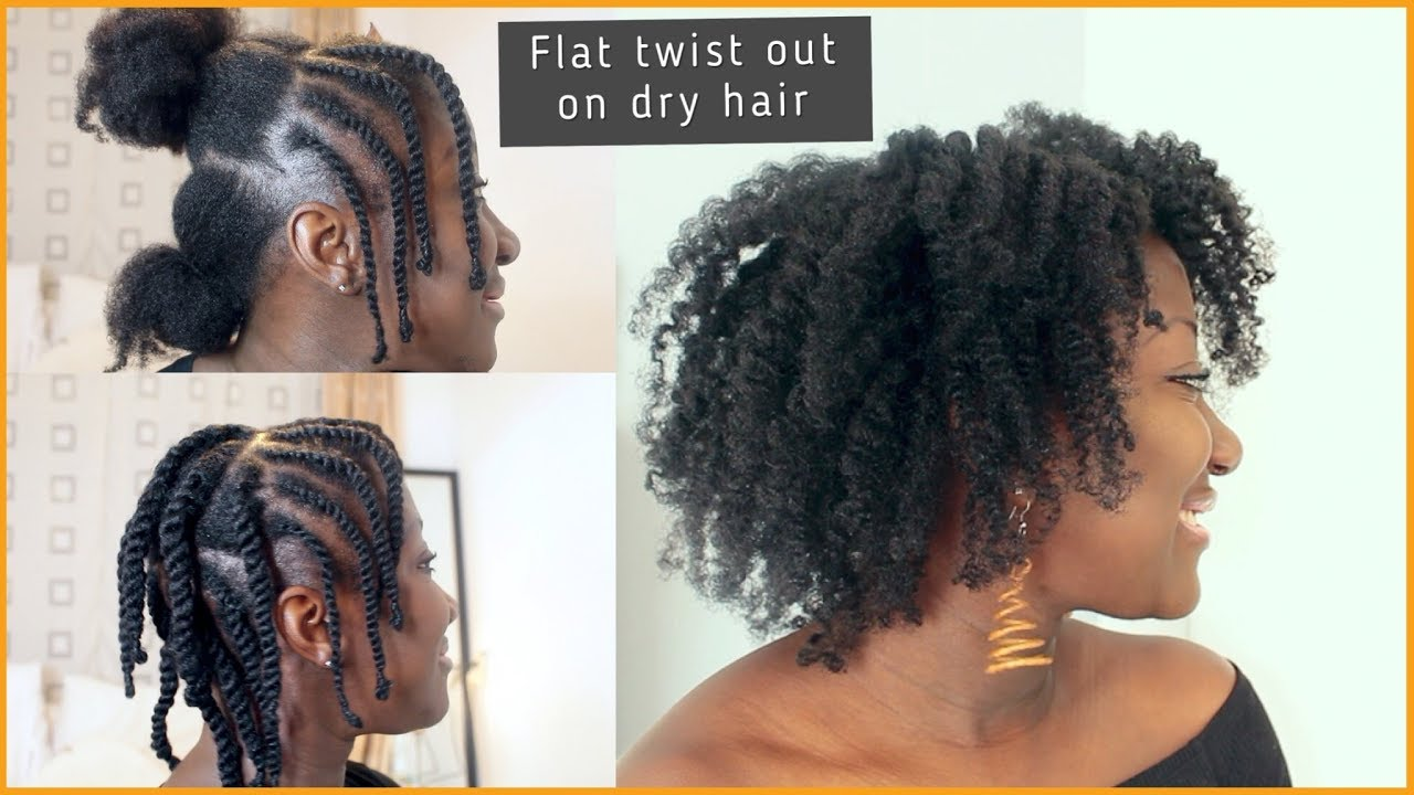 flat twist out on thin/fine natural hair || dry hair || adede