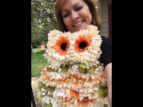 Owl wreath tutorial with Sandy