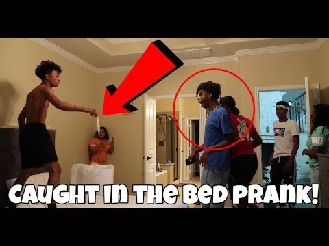 CAUGHT IN THE BED WITH CARMEN PRANK ON COREY!!!