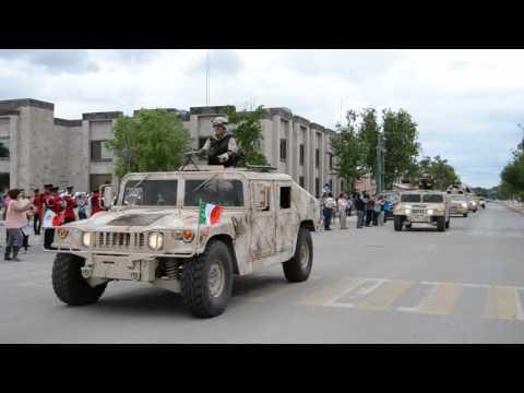 Gran Recibimiento del Ejercito Mexicano en Piedras Negras