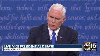 2016 vp debate tim kaine vs mike pence pence on police and race relations