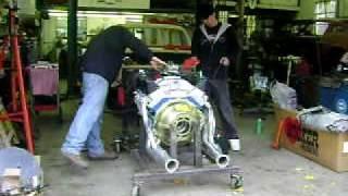 Randys 428 cobra jet running on engine stand