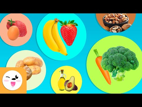 Healthy Eating for Kids - Compilation Video: Carbohydrates, Proteins, Vitamins, Mineral Salts, Fats