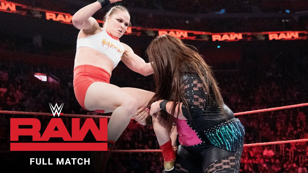 Download FULL MATCH - Ronda Rousey & Natalya vs. Nia Jax & Tamina: Raw, Dec. 31, 2018
