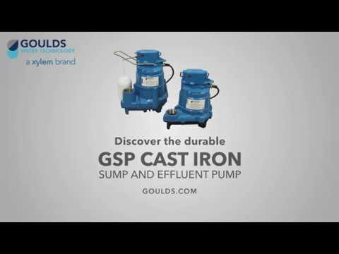 The GSP Cast Iron Sump and Effluent Pump - Goulds Water Technology