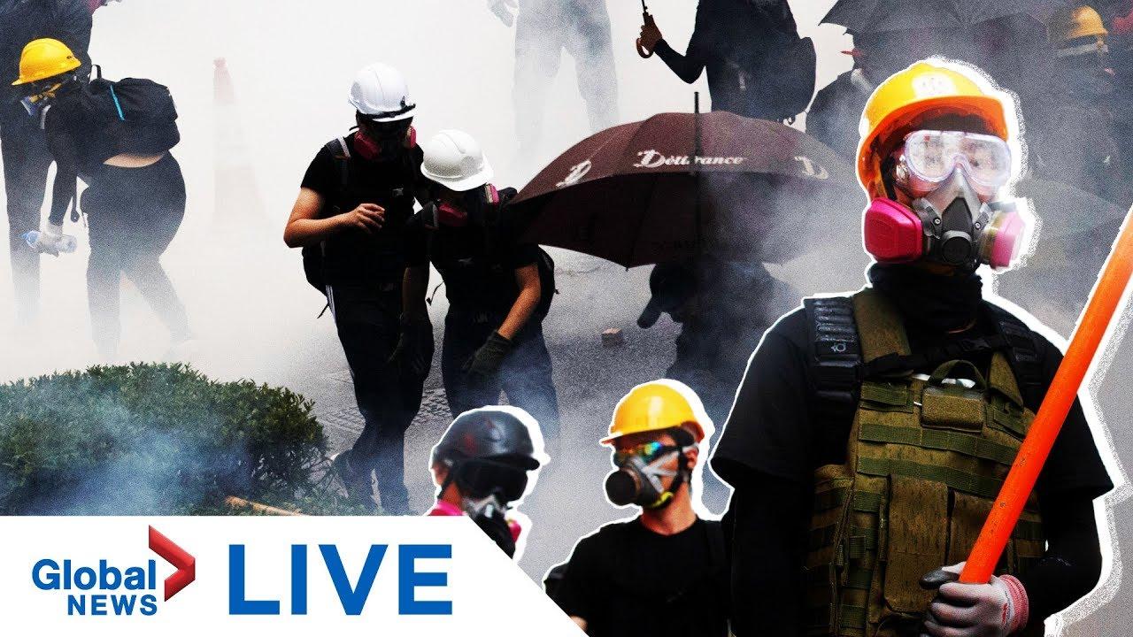 Hong Kong protests at Mong Kok police station | LIVE