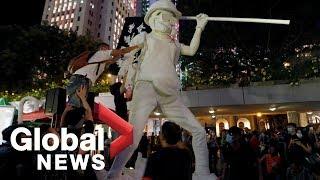 Hong Kong protests: Demonstrators gather outside Mong Kok police station