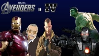 The Avengers in Grand Theft Auto 4 - Iron man/The Hulk/War Machine/Stan Lee - Mods!