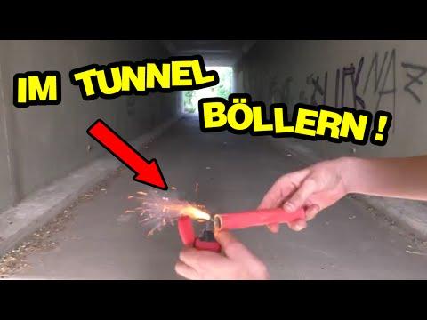 Im Tunnel Böllern | Super Böller/Frösche/Harzer Knaller/Super Crackers