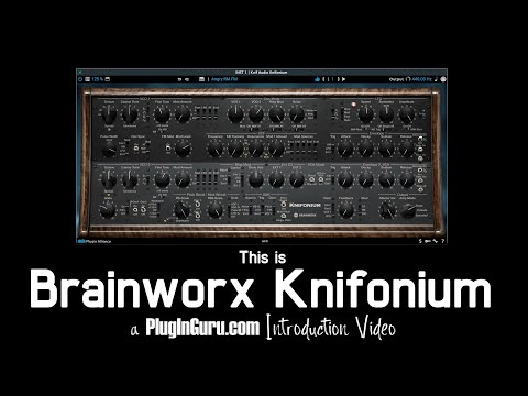 This is Brainworx Knifonium! ANALOG Synth in Software NIRVANA!!