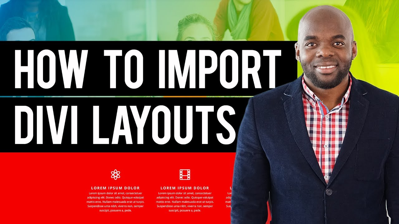 Divi builder tutorial - How to import Divi layouts