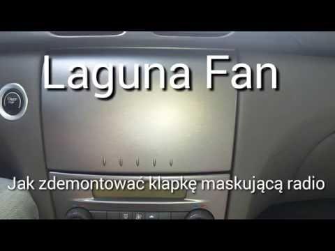 Renault Laguna 2 jak zdemontować klapkę maskującą radio.