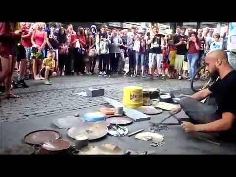 Талант на улице Fantastic Street Techno Drummer