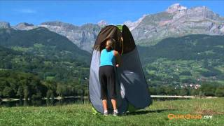 Quechua Pop up shower, toilet, cabin, tent. Instructions and dismantling