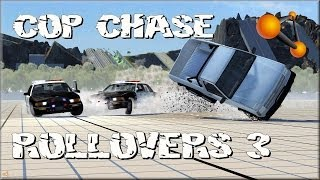 BeamNG Drive Cop Chases & Rollovers #3