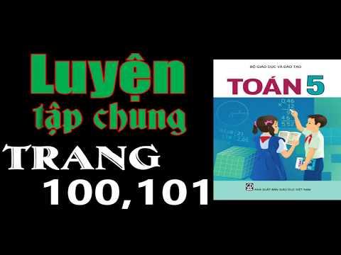 Toán Lớp 5 Trang 100 + 101 - Luyện Tập Chung