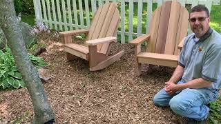 Adirondack Chair and Rocking Chair