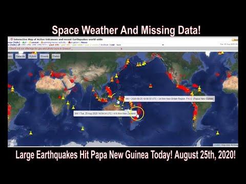 Large Earthquakes Hit Papua New Guinea Today! - So Far!