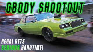 Regal pulls WHEELIES in BIG RIM GBODY SHOOTOUT - Money on the Line Car Show & Grudge Race
