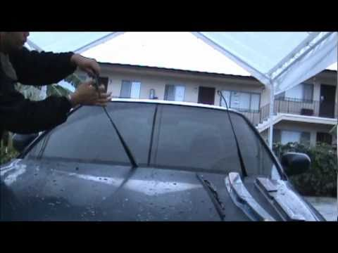 Marvelous How To Change Your Windshield Wipers On Honda Accord Civic Car. Sony  HandyCam Video Test
