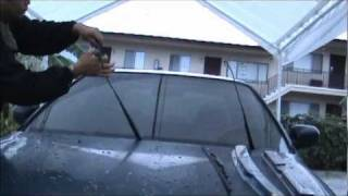 How To Change Your Windshield Wipers On Honda Accord Civic Car. Sony HandyCam Video Test