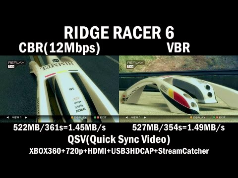 [CBR/VBR] RIDGERACER6 [USB3HDCAP,StreamCatcher]