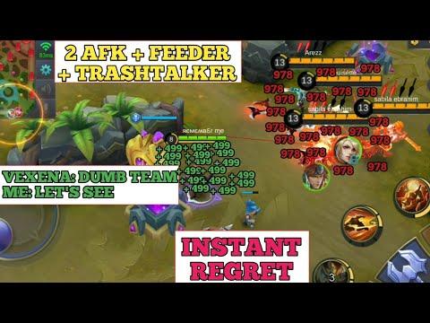 2 AFK + FEEDER + TRASTALKER   INSTANT REGRET   MOBILE LEGENDS
