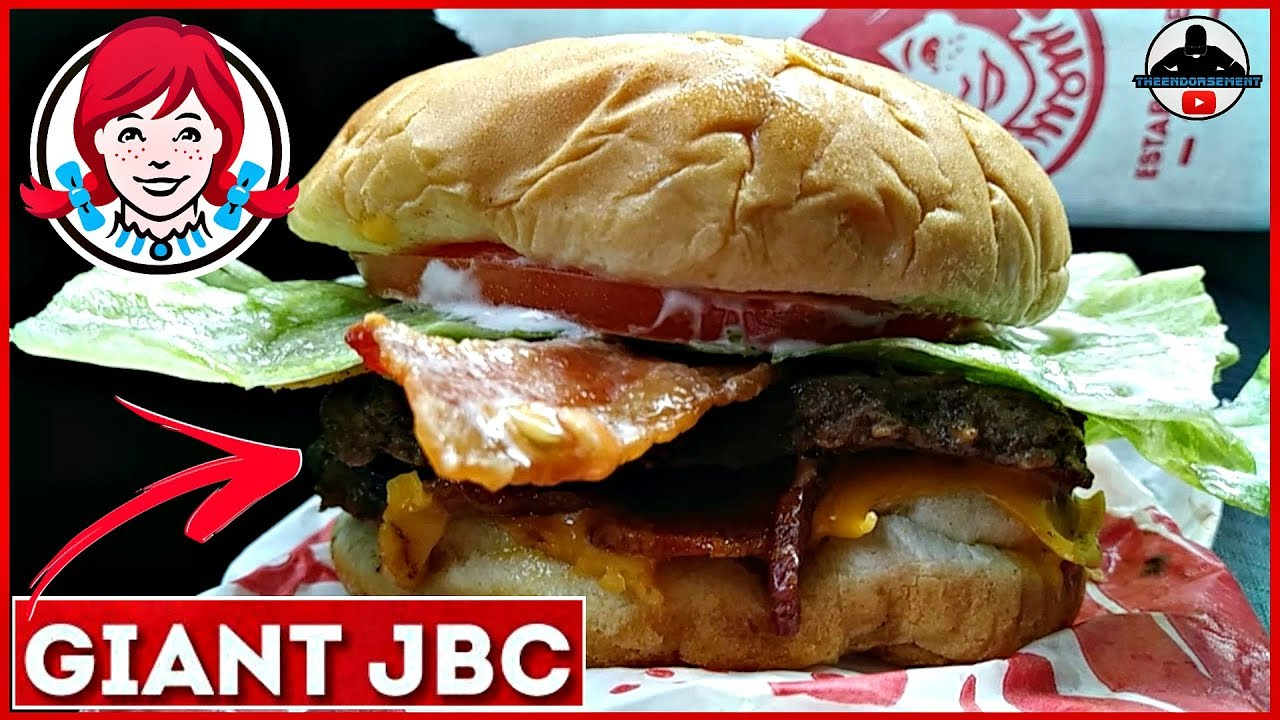 Wendy S Giant Jbc Review Junior Bacon Cheeseburger Youtube