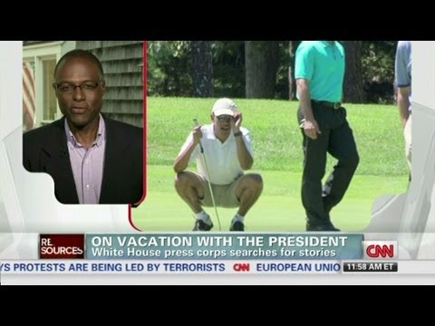 On vacation with the president