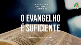 CULTO VESPERTINO - 06/12/2020