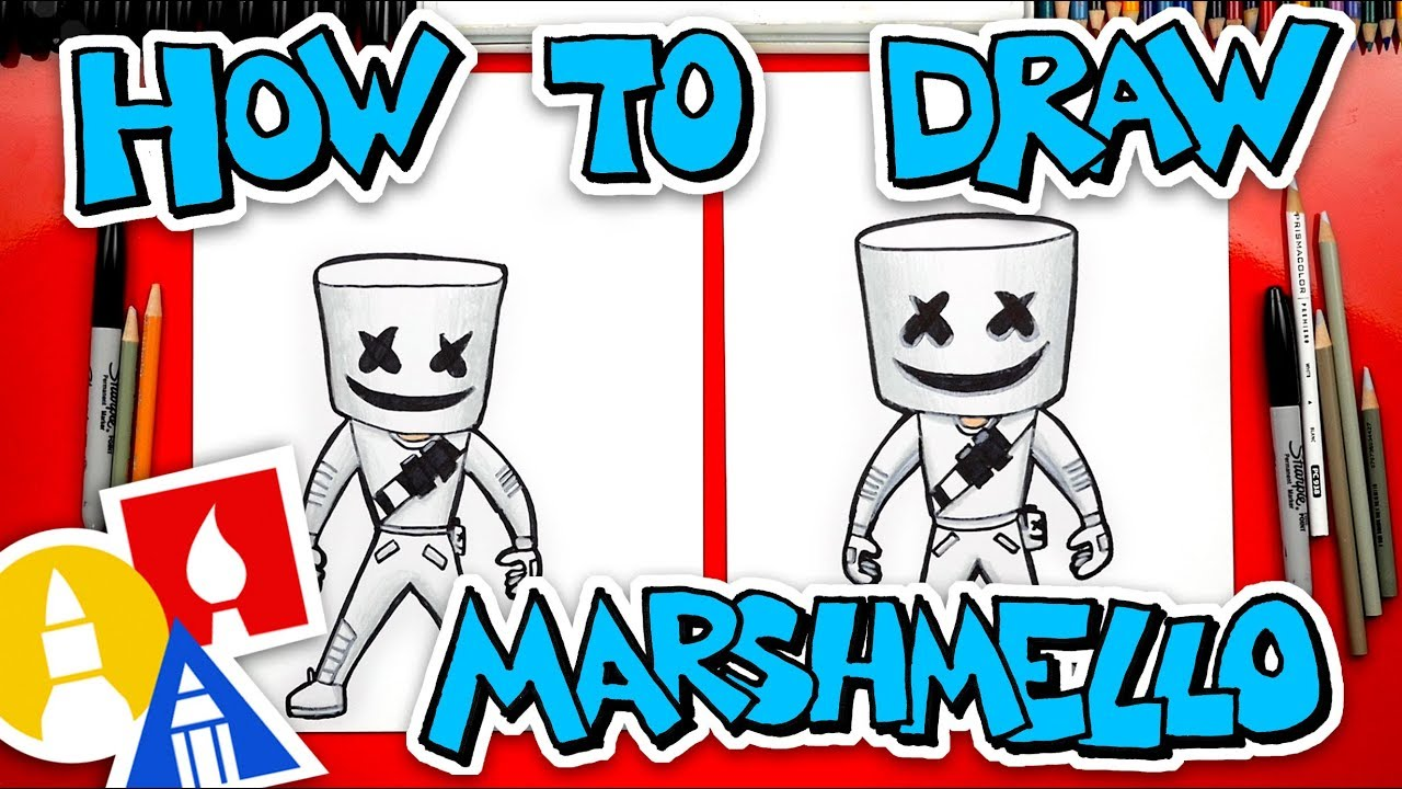 How To Draw Fortnite Marshmello Skin