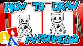 How To Draw Forтnite Marshmello Skin