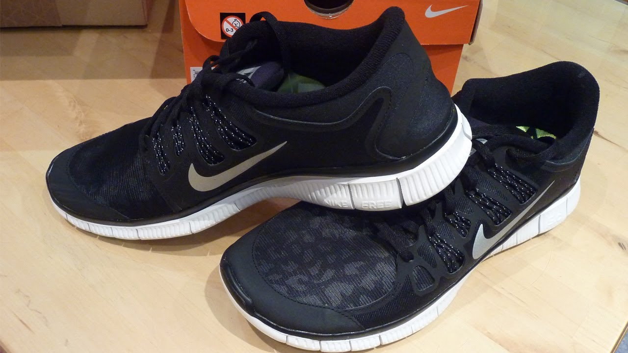 Nike Free 5.0+ Shield 2013 Black - Unboxing + On Feet - YouT