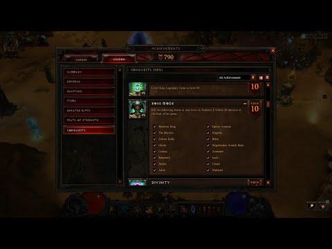 BOSS MODE Conquest - Season 6 - SOLO Witch Doctor (Diablo III)