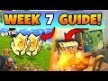 Fortnite WEEK 7 CHALLENGES GUIDE! – ROAD TRIP, Treasure MAP Battle Stars (Battle Royale Season 5)