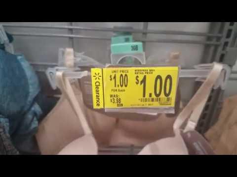 Walmart CLEARANCE 1.00 And 2.00 Bras  ~YMMV~
