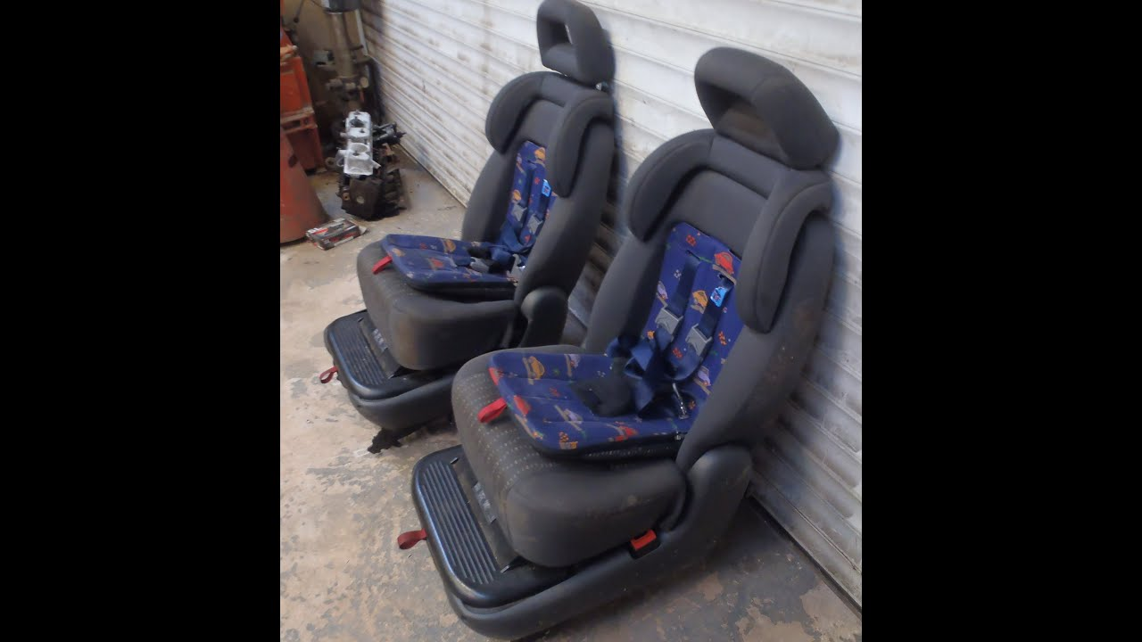 Pair Rear Detachable Seats With Built In Booster Cushion Baby Seat From A Alhambra