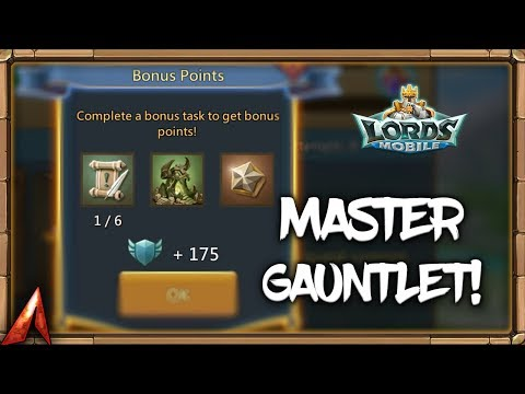 Lords Mobile Master Gauntlet Stream!