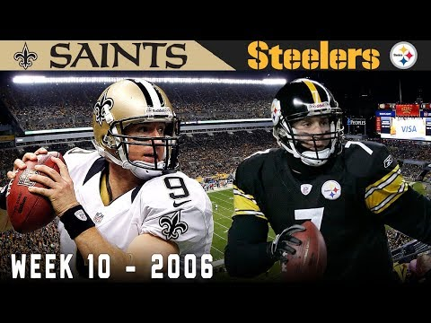 Week 10 2006- The Saints and Steelers light up the Heinz Field scoreboard for 69 points in what also turned out to be a rare coaching matchup (Sean Payton vs. Bill Cowher)