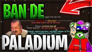 MON BAN DE PALADIUM ! L'EXPLICATION 😂🍆 + FACECAM 📹