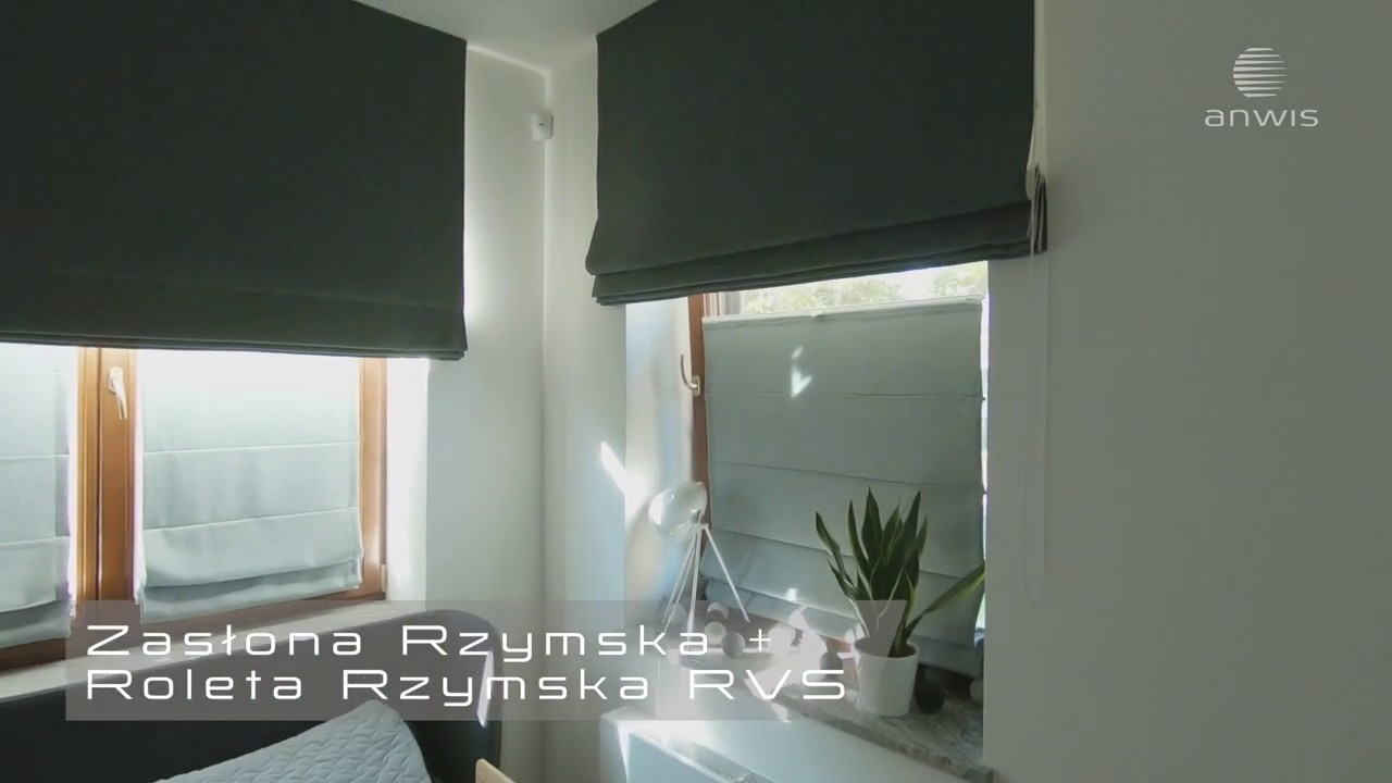 Roleta Rzymska Anwis Raffrollos Anwis Anwis Roman Blind Youtube