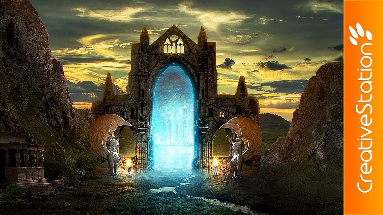 Water Fall Effect Wallpaper Portal Of Time Speed Art Photoshop