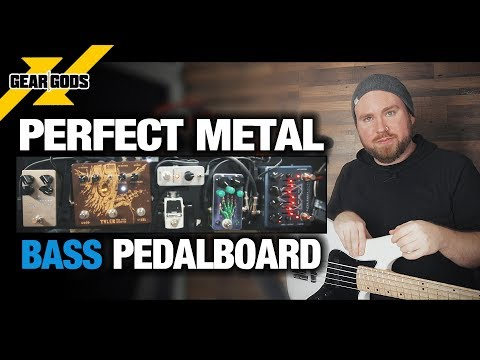 The Perfect Metal BASS Pedalboard! | GEAR GODS