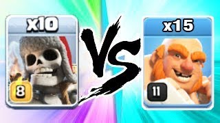 New Update, Troop, x10 Giant Skeleton Level Max Vs 15 Boxer Giants Level 11 in Coc, Clash of clans A