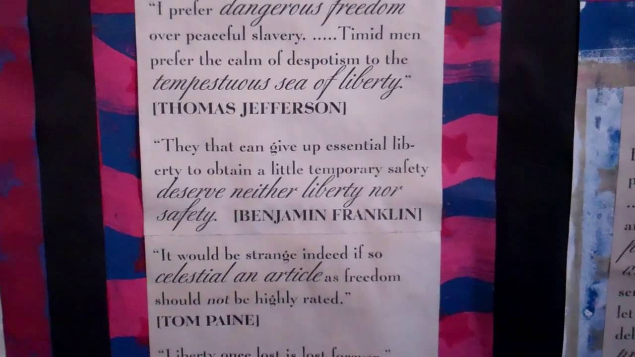 July 4 1776 Mural Of Founding Fathers Quotes Youtube